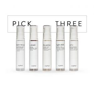 Cipher Skincare Shorty Pick Three (3) Stacked Pack Minis Bundle